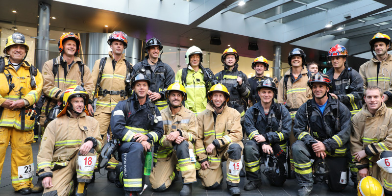 Firefighter Sky Tower Stair Challenge.Raising funds for Leukaemia & Blood Cancer NZ.Saturday 19 May, 2018.SkyTower, Skycity Auckland.
