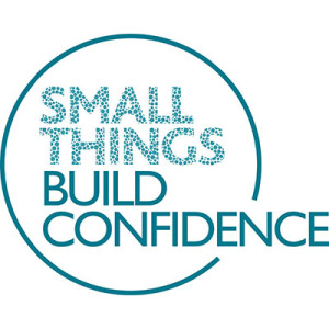 Small Things Build Confidence logo.